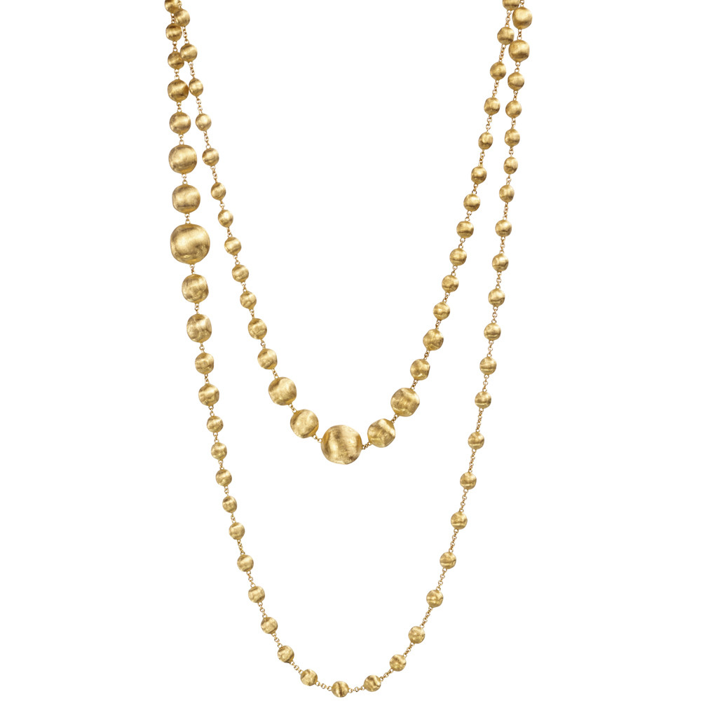 "18k Yellow Gold ""Africa"" Longchain Necklace"