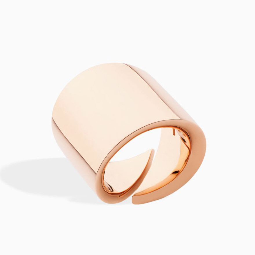 "18k Rose Gold ""Vague"" Wide Band Ring"