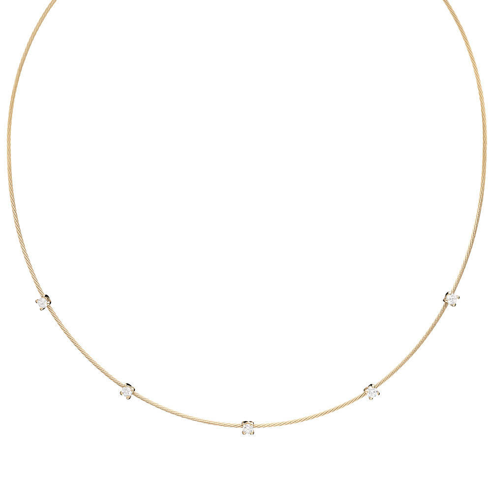 "18k Yellow Gold & Diamond ""Unity"" Collar Necklace"