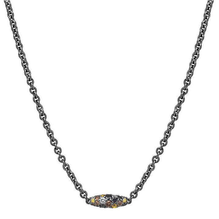 "Multicolored Diamond ""Confetti Pipette"" Necklace"
