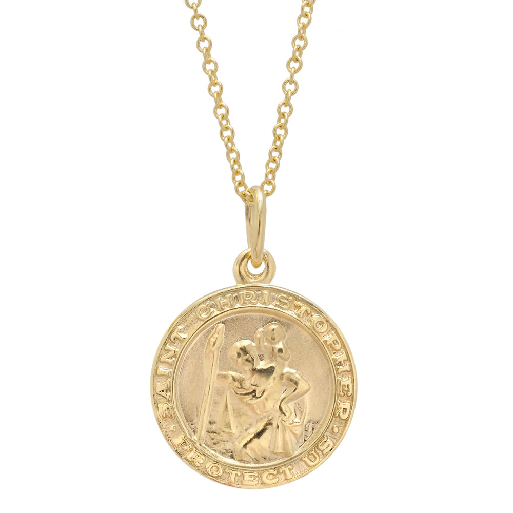 Small 14k Yellow Gold St. Christopher Pendant