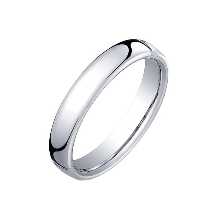 Platinum European Comfort Fit Wedding Band (4.5mm)