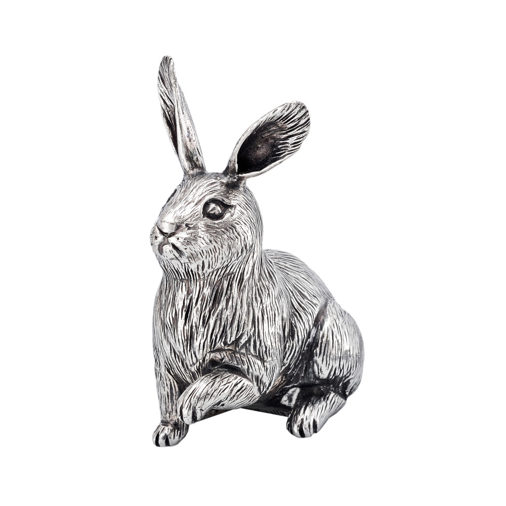 Small Silver Rabbit Sculpture