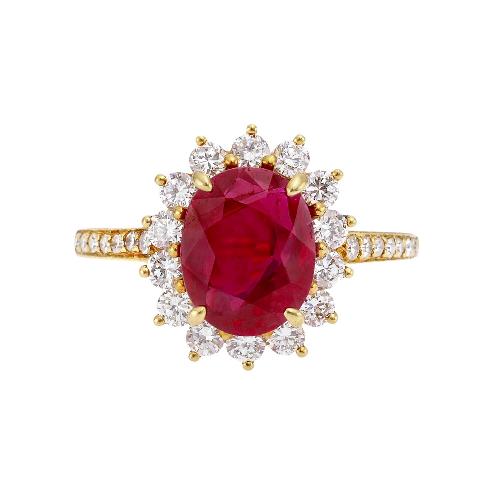 Tiffany Ruby Amp Diamond Cluster Ring Betteridge