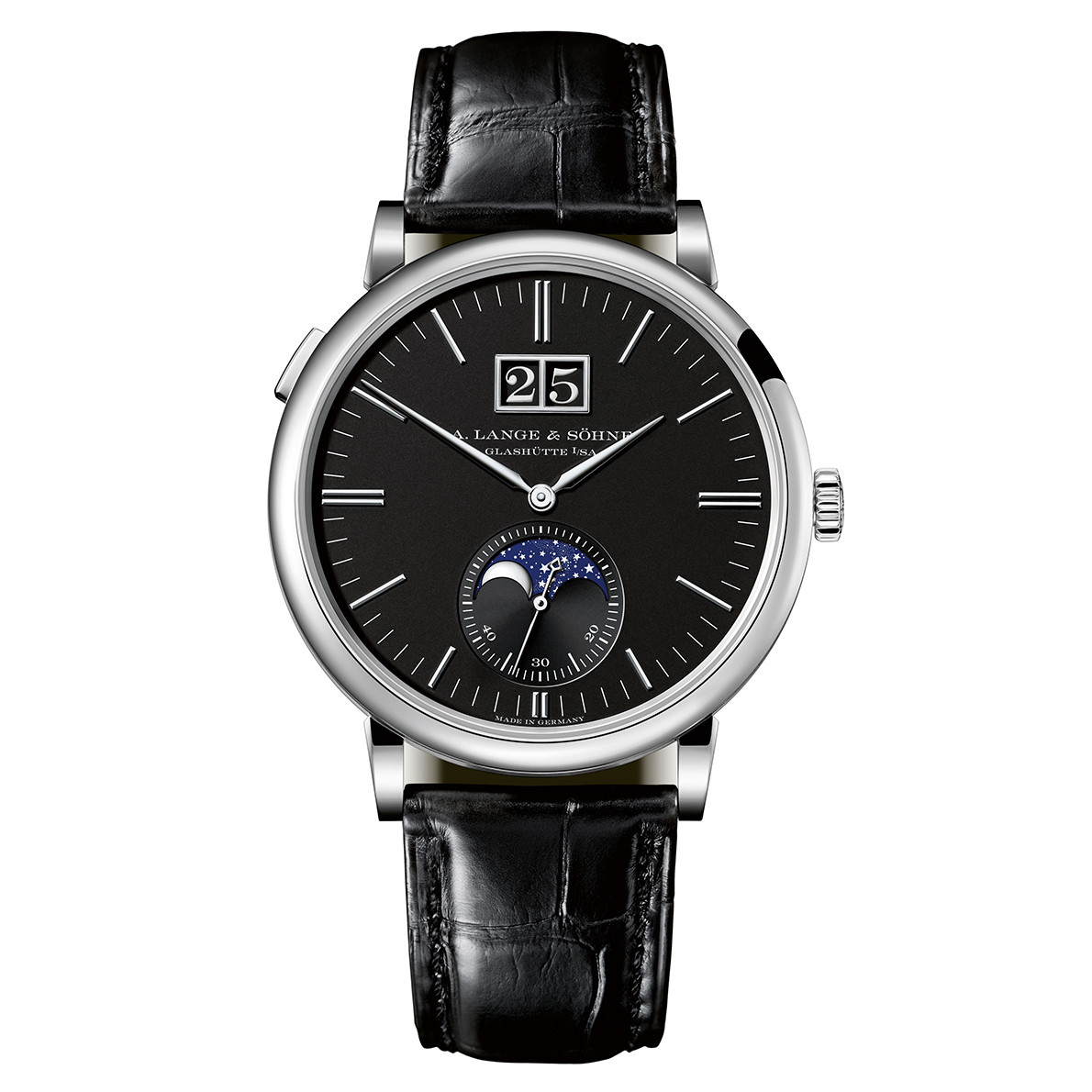 Saxonia Moon Phase White Gold (384.029)