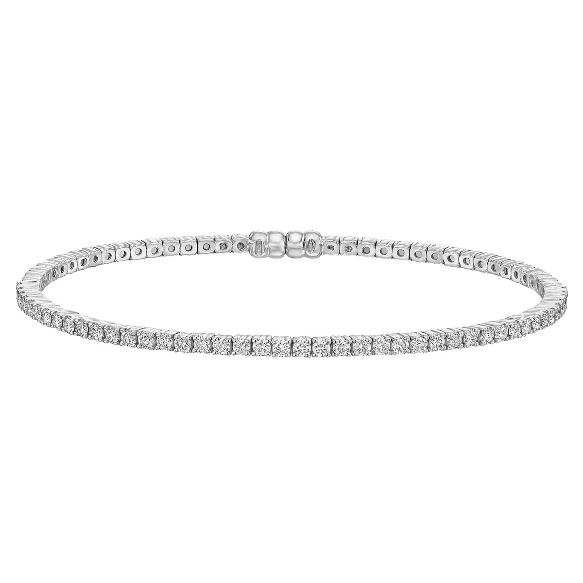 18k White Gold & Diamond Bangle (~1 ct tw)