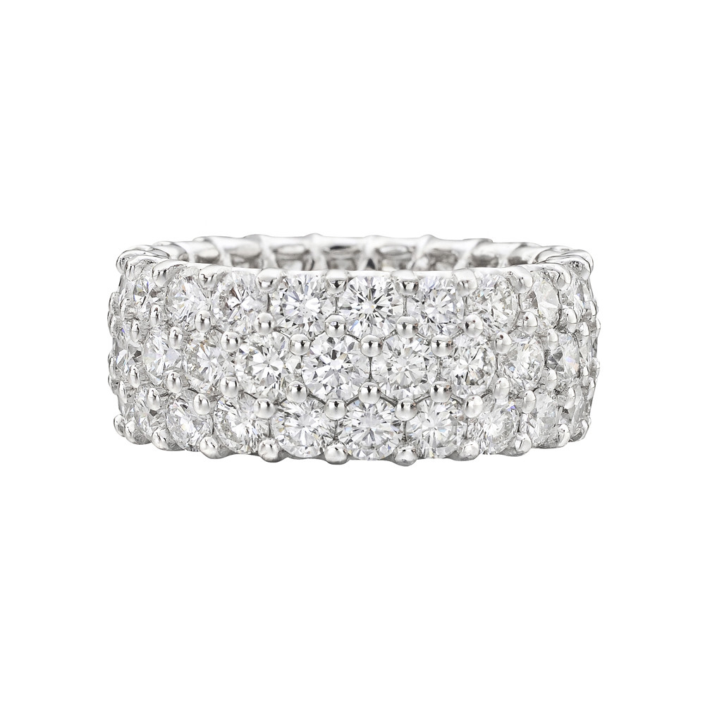 band cubic cocktail eternity dt pave cz zirconia diamond wide bands sterling silver half ring