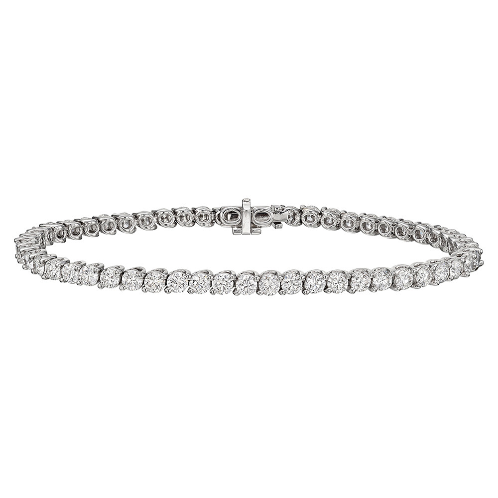 Round Brilliant Diamond Line Bracelet (7.25ct tw)