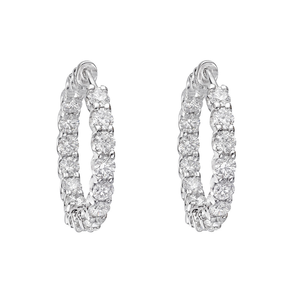 Diamond Hoop Earrings (4.50ct tw)