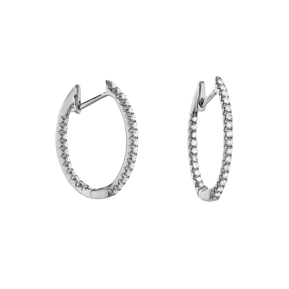 Small Diamond Hoop Earrings (~0.25 ct tw)