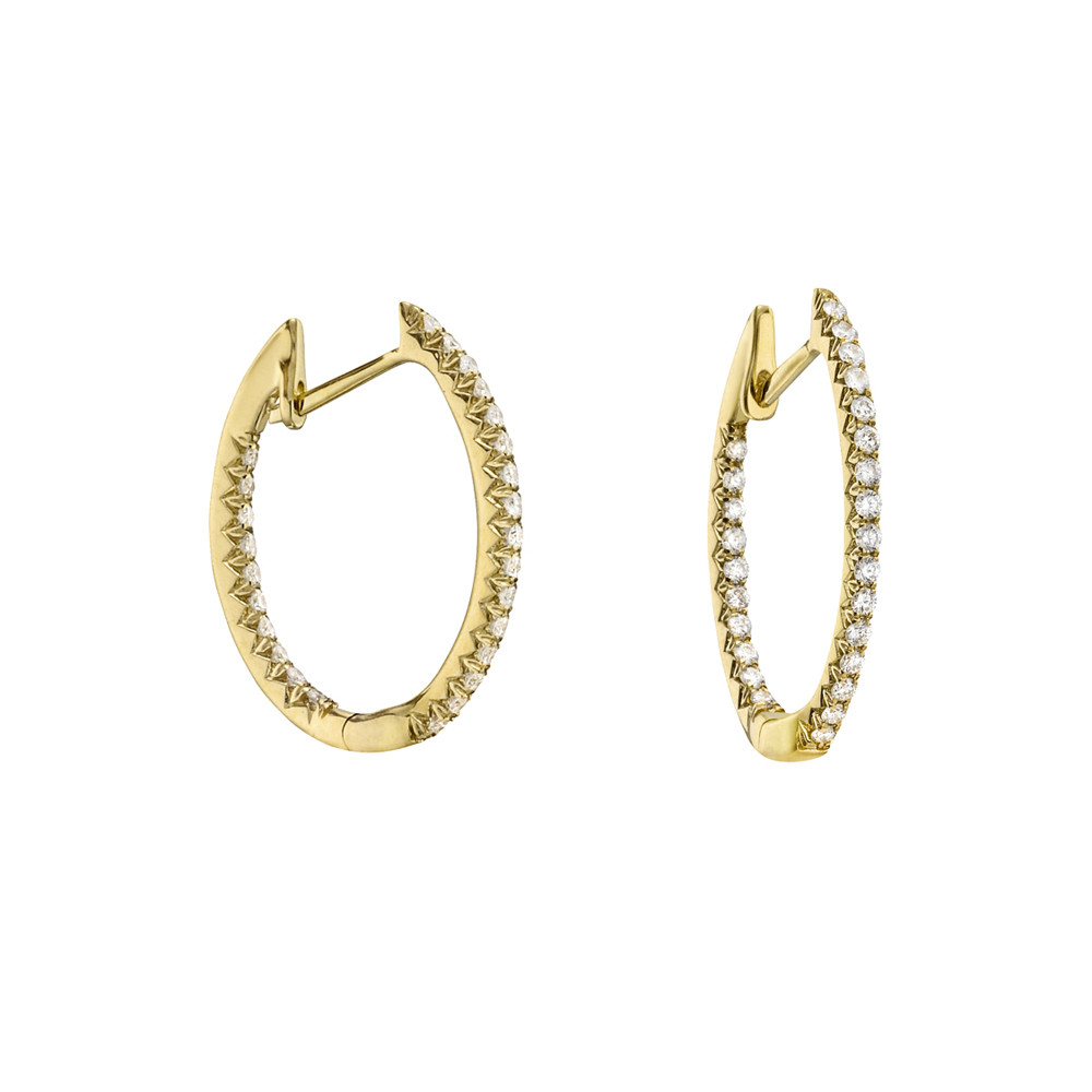 Small Diamond Hoop Earrings (~0.30 ct tw)