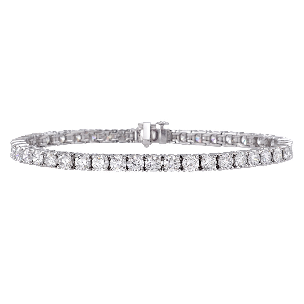 Round Brilliant Diamond Line Bracelet (10.36 ct tw)