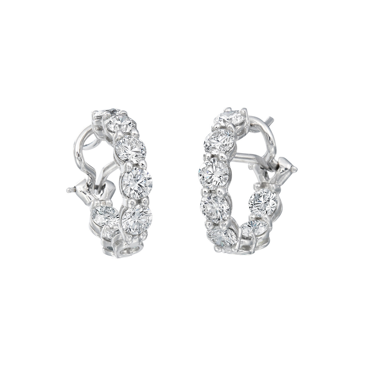 Diamond Hoop Earrings (3.60ct tw)
