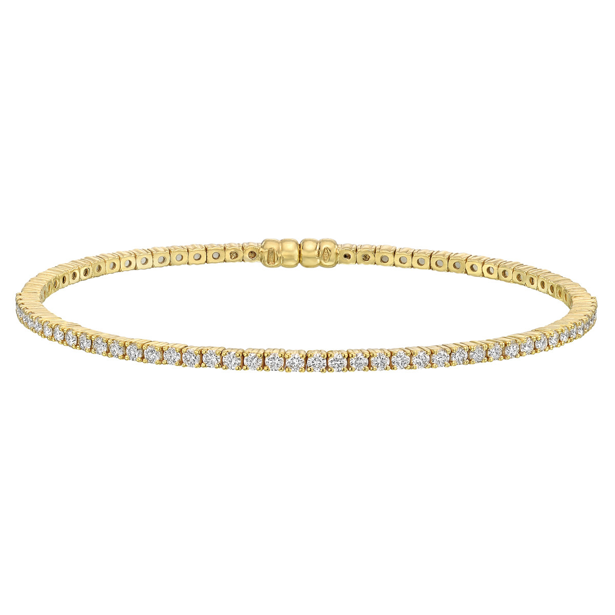 18k Yellow Gold & Diamond Bangle (~1 ct tw)