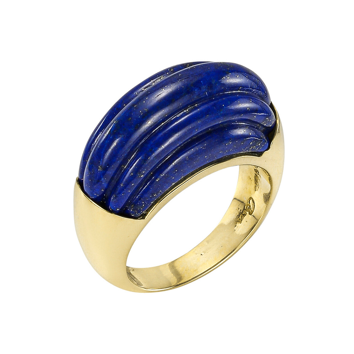 "18k Yellow Gold & Lapis ""Bridge"" Ring"