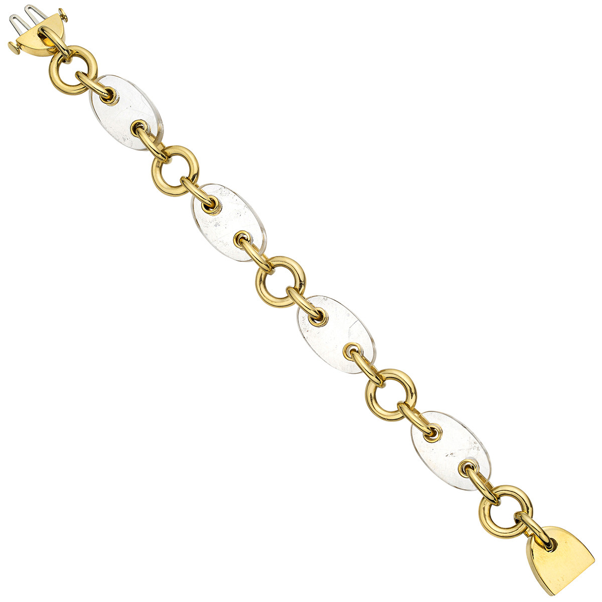 "18k Yellow Gold & Rock Crystal ""Marine"" Bracelet"
