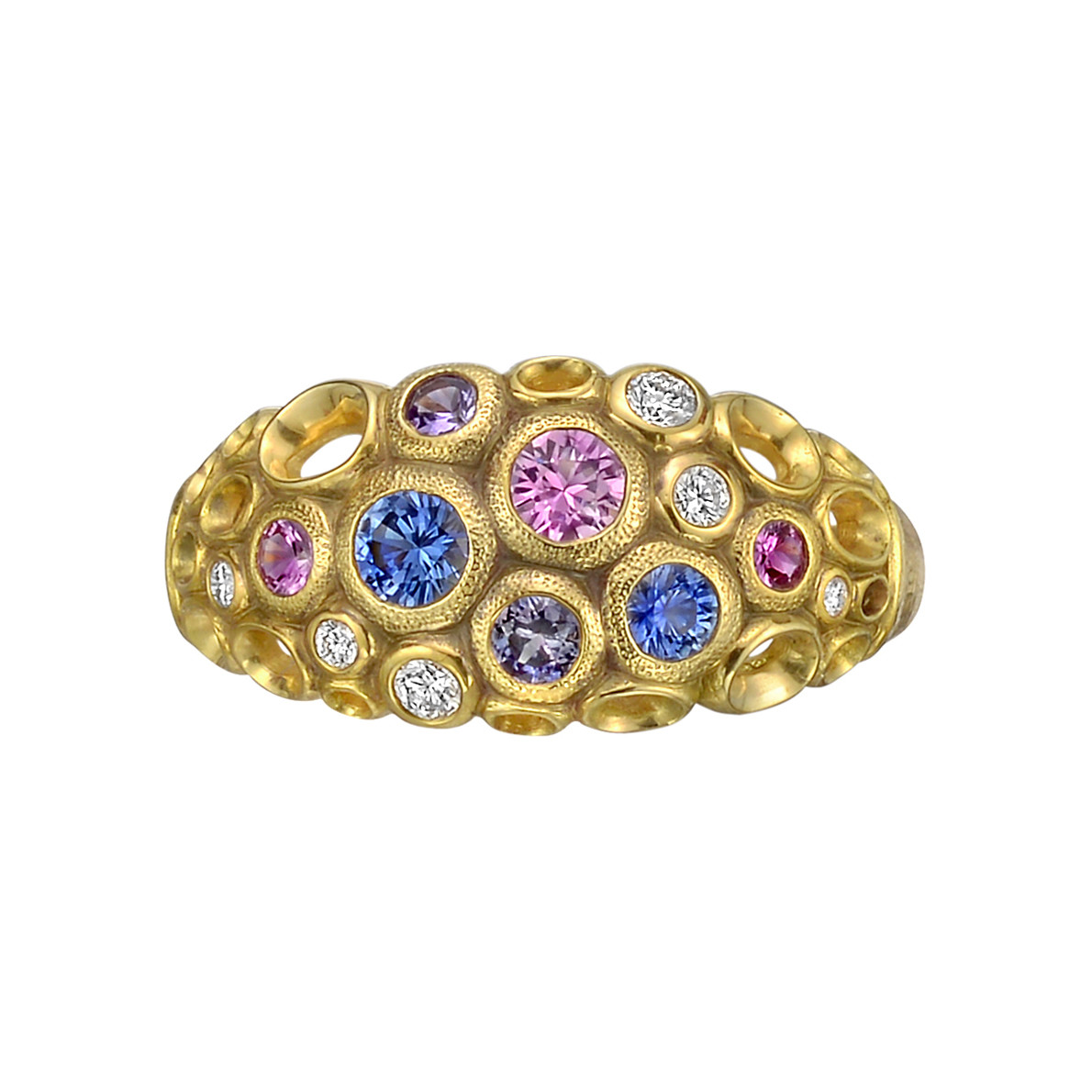 c colored multicolored multi matthew laurenza m l by campbell product ring stardust gallery jewelry mcl lyst sapphire pave