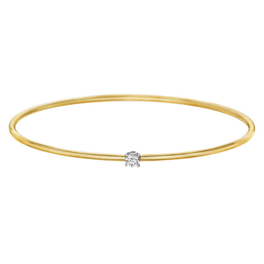 "18k Yellow Gold & Diamond ""Flex Forte"" Bangle"
