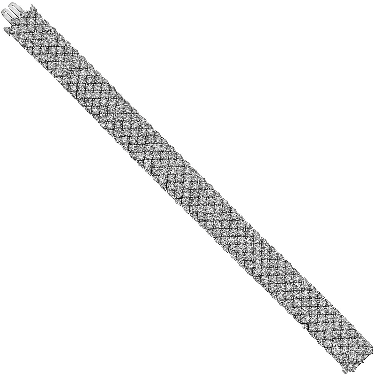 7-Row Diamond Mesh Bracelet (~25 ct tw)