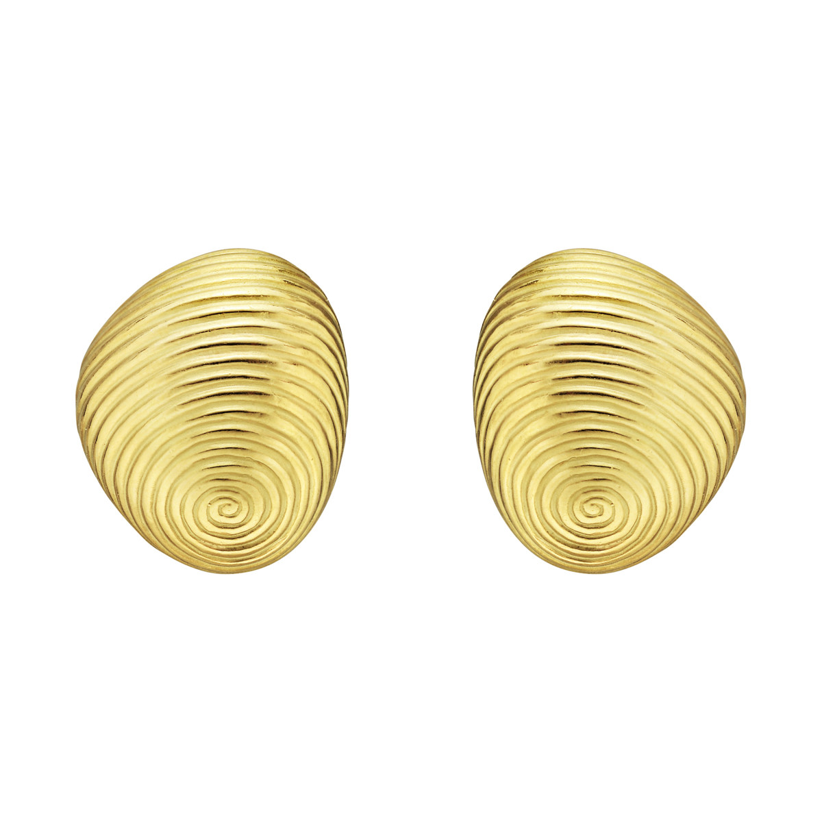 "18k Yellow Gold ""Thumbprint"" Earrings"