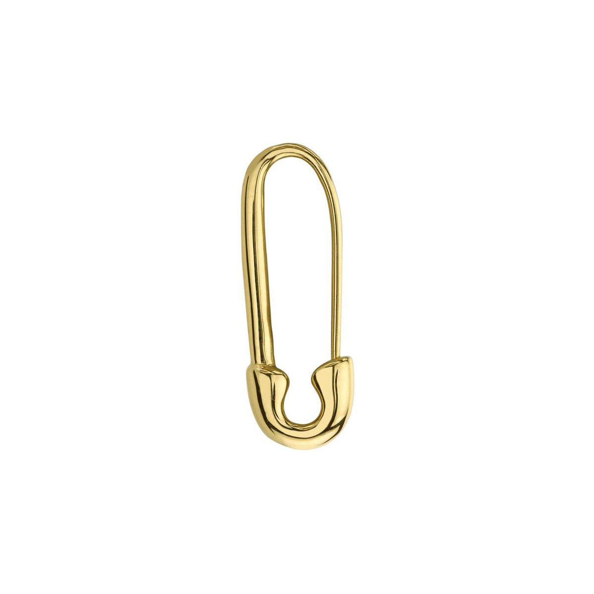 18k Yellow Gold Safety Pin Earring
