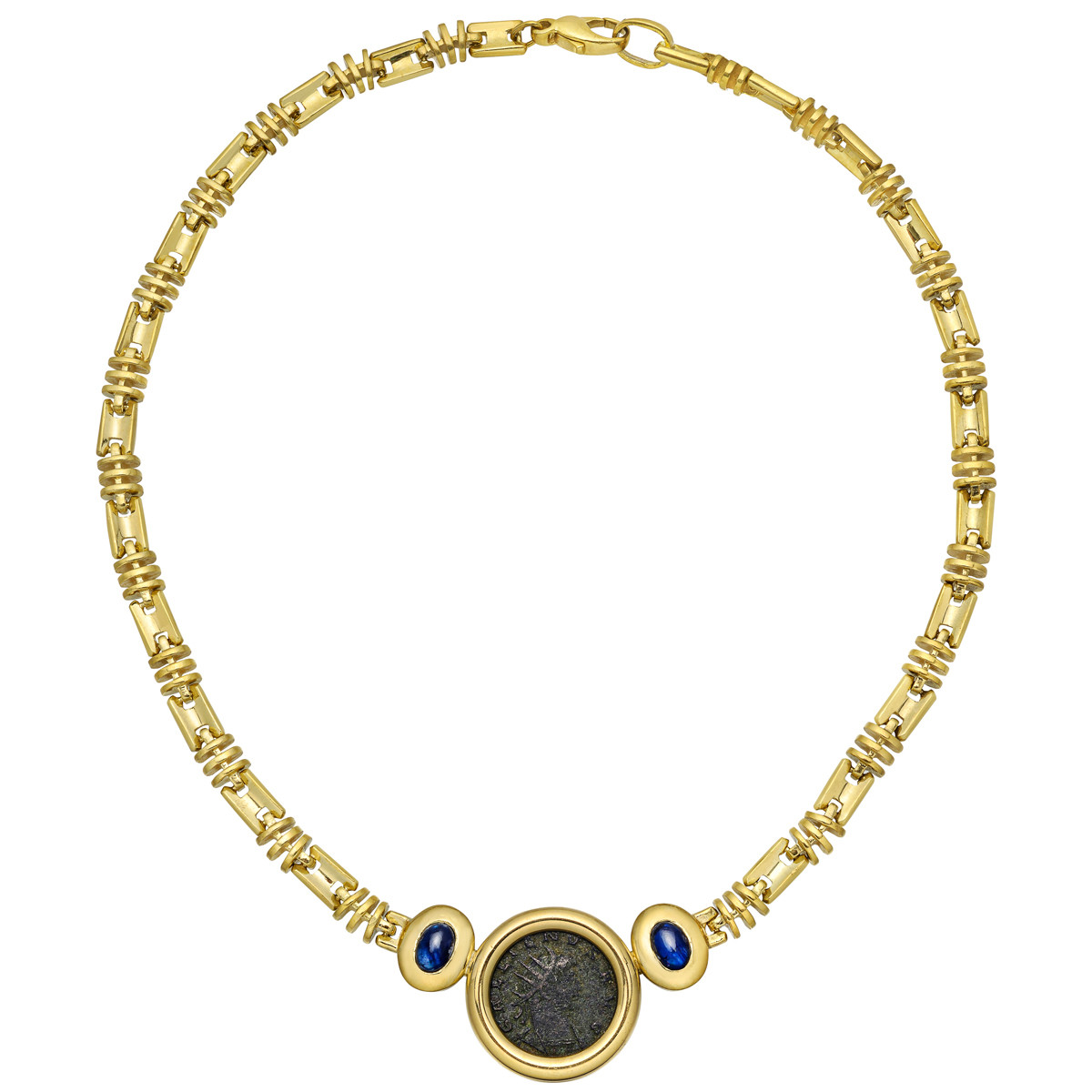 18k Yellow Gold Coin Centerpiece Necklace