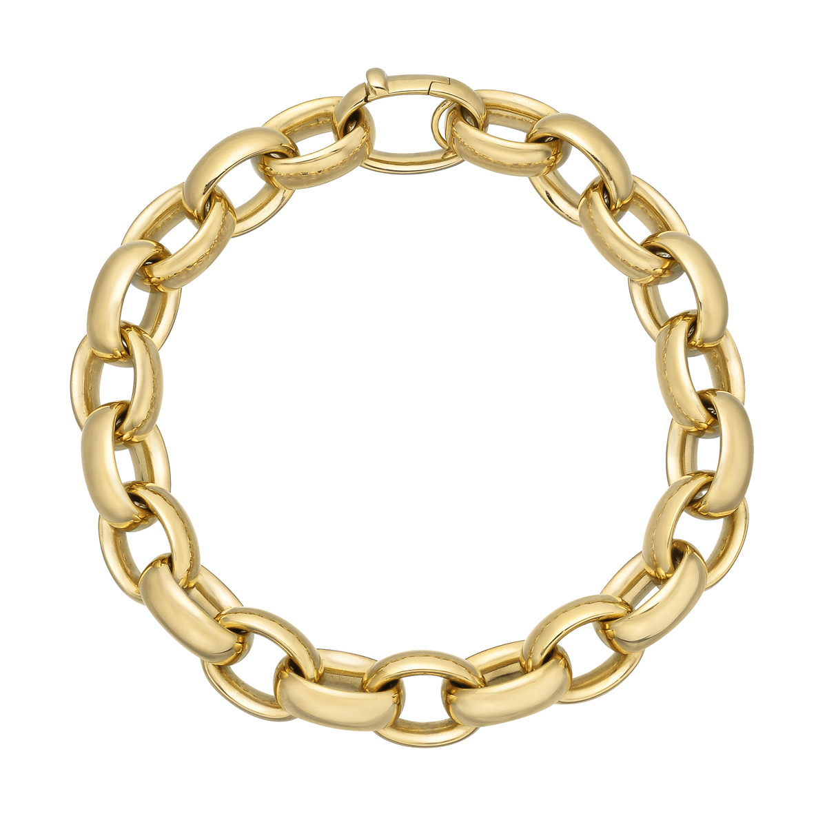 18k Yellow Gold Chunky Oval Link Bracelet