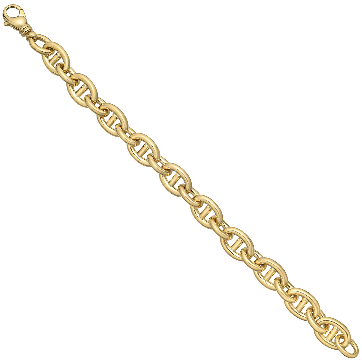 18k Yellow Gold Anchor Link Bracelet