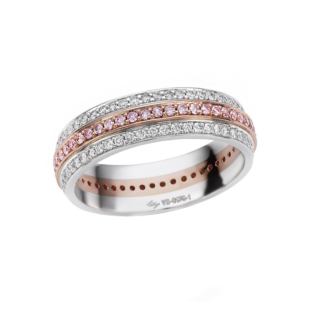 Pink & White Diamond Eternity Band Ring