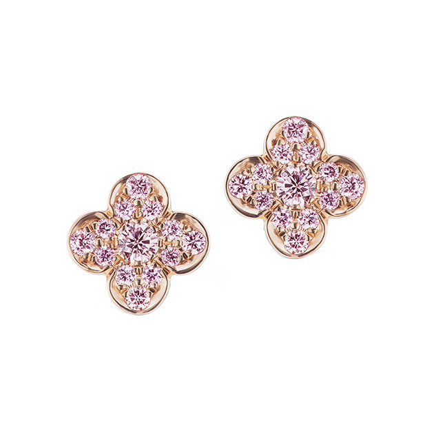 "Argyle Pink Diamond ""Azalea"" Stud Earrings"