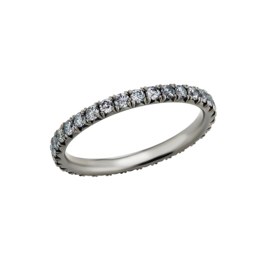 Blue Diamond Eternity Band Ring (0.46ct tw)