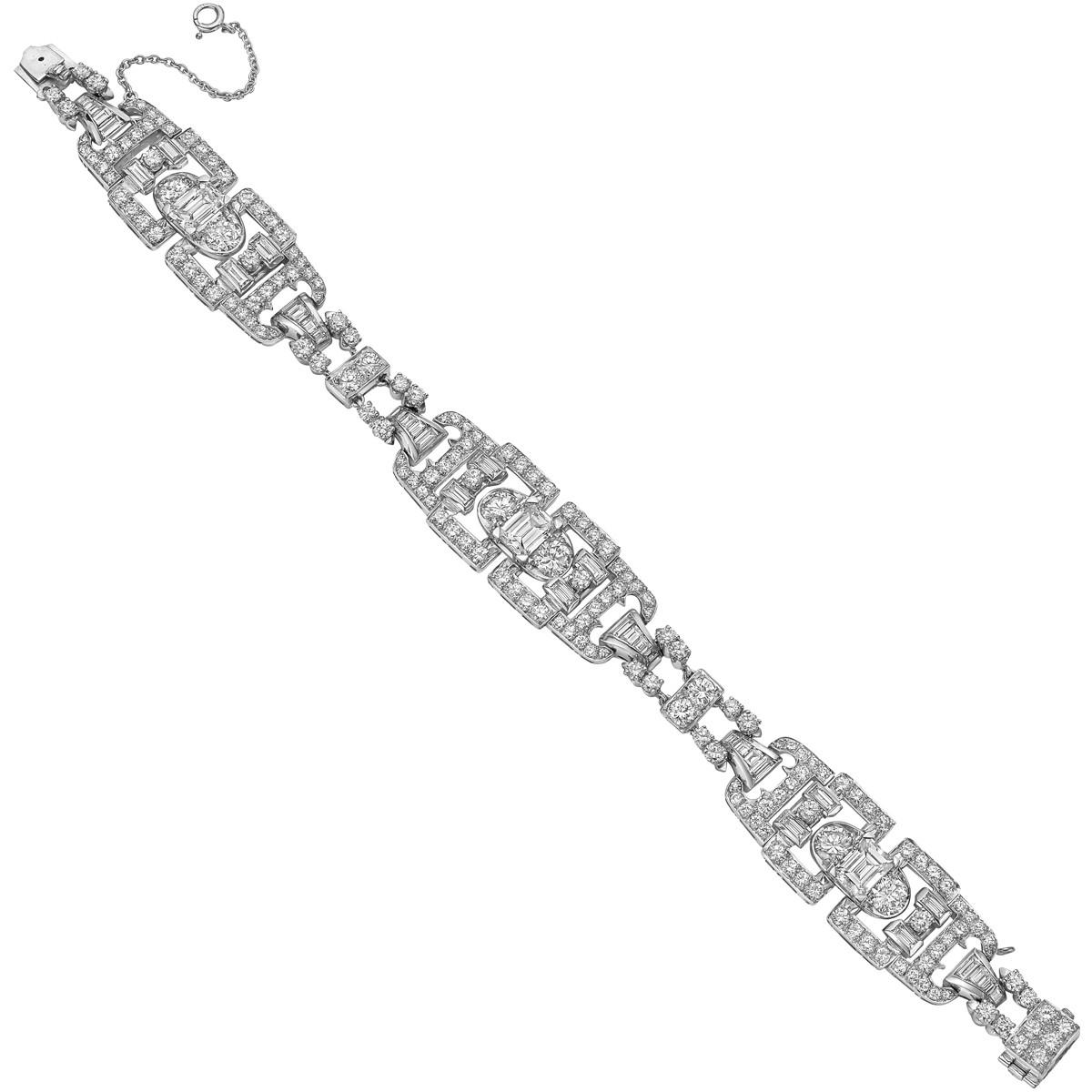Art Deco Diamond Link Bracelet