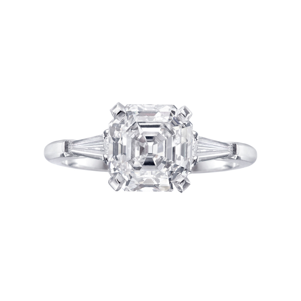 Betteridge 2 46 Carat Asscher Cut Diamond Engagement Ring