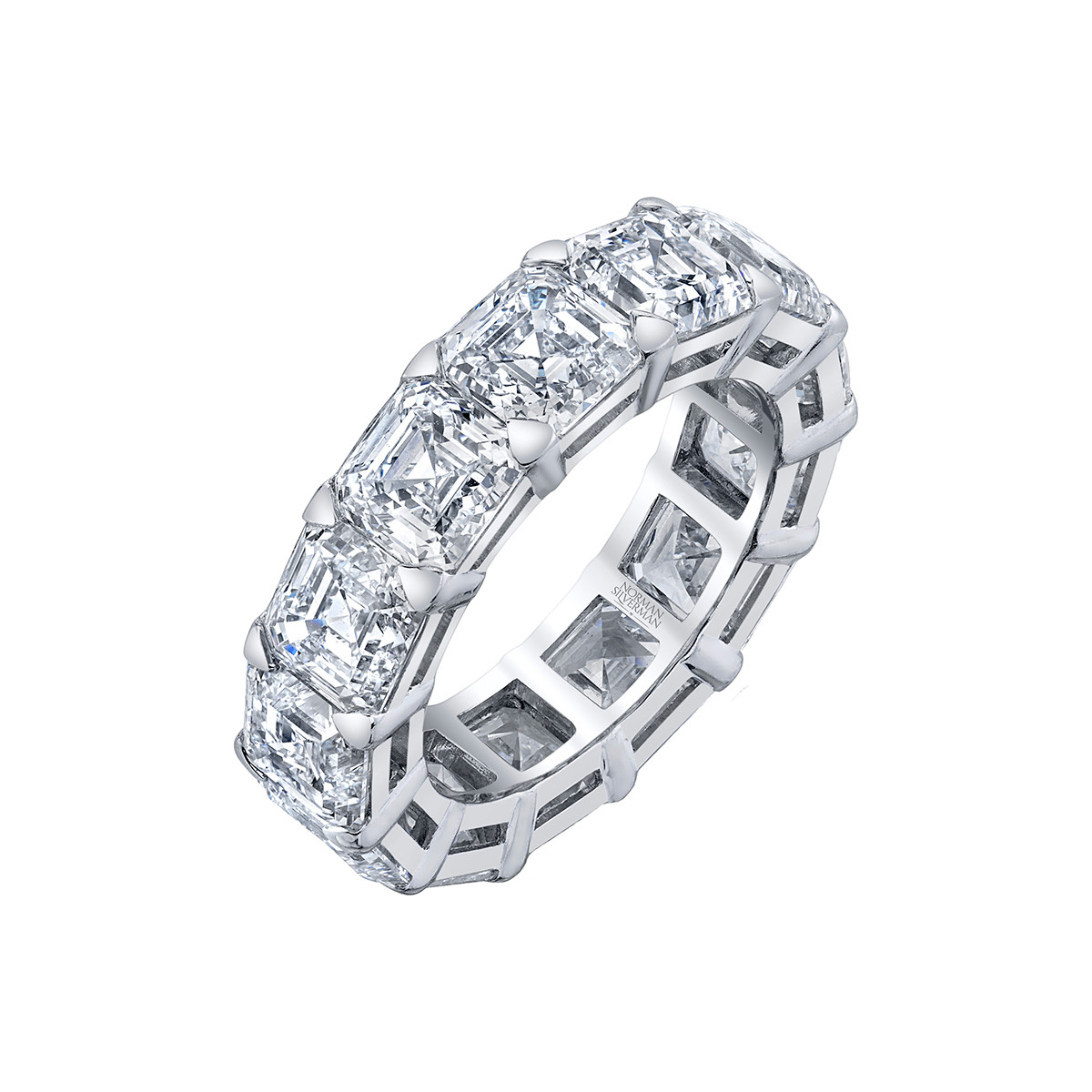 Asscher-Cut Diamond Eternity Band (13.24ct tw)