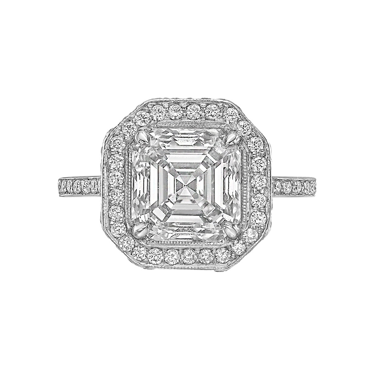 3.13ct Asscher-Cut Diamond Ring