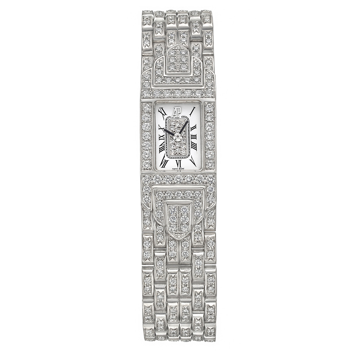 Charleston White Gold & Diamond Bracelet Watch