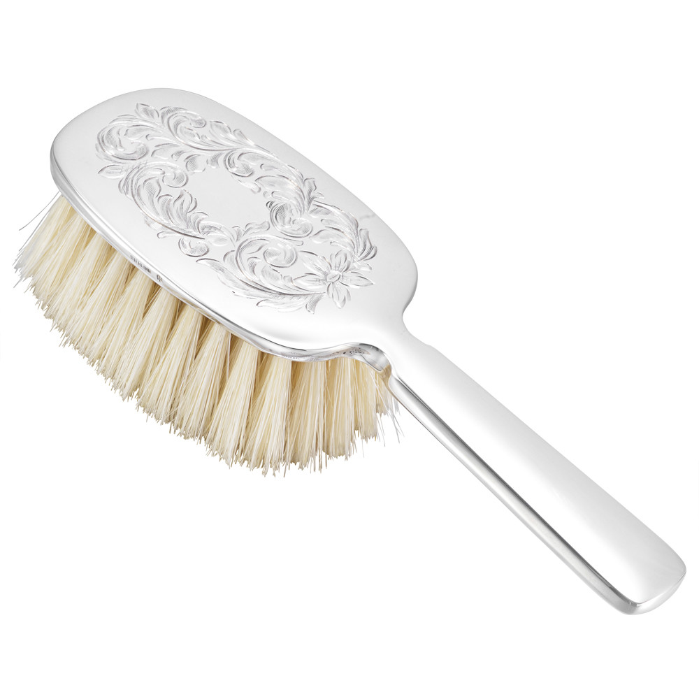 Silver Baby Brush with Handle