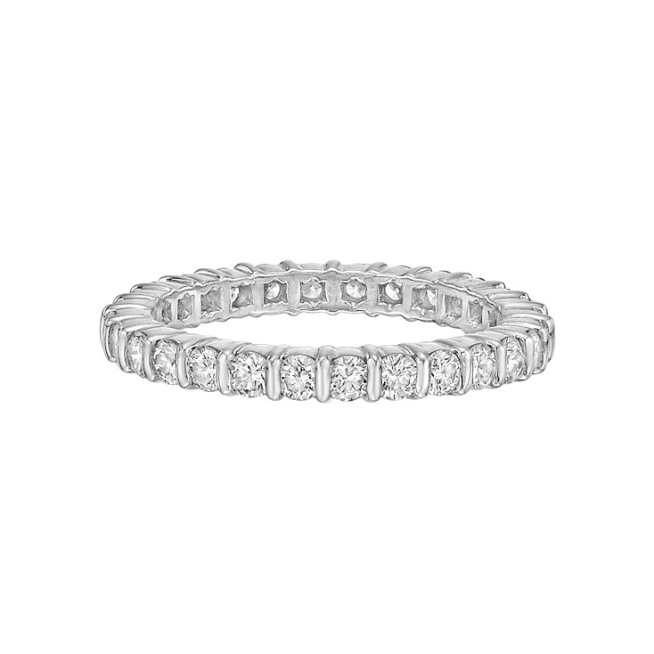 Bar-Set Diamond Eternity Band (1.12ct tw)
