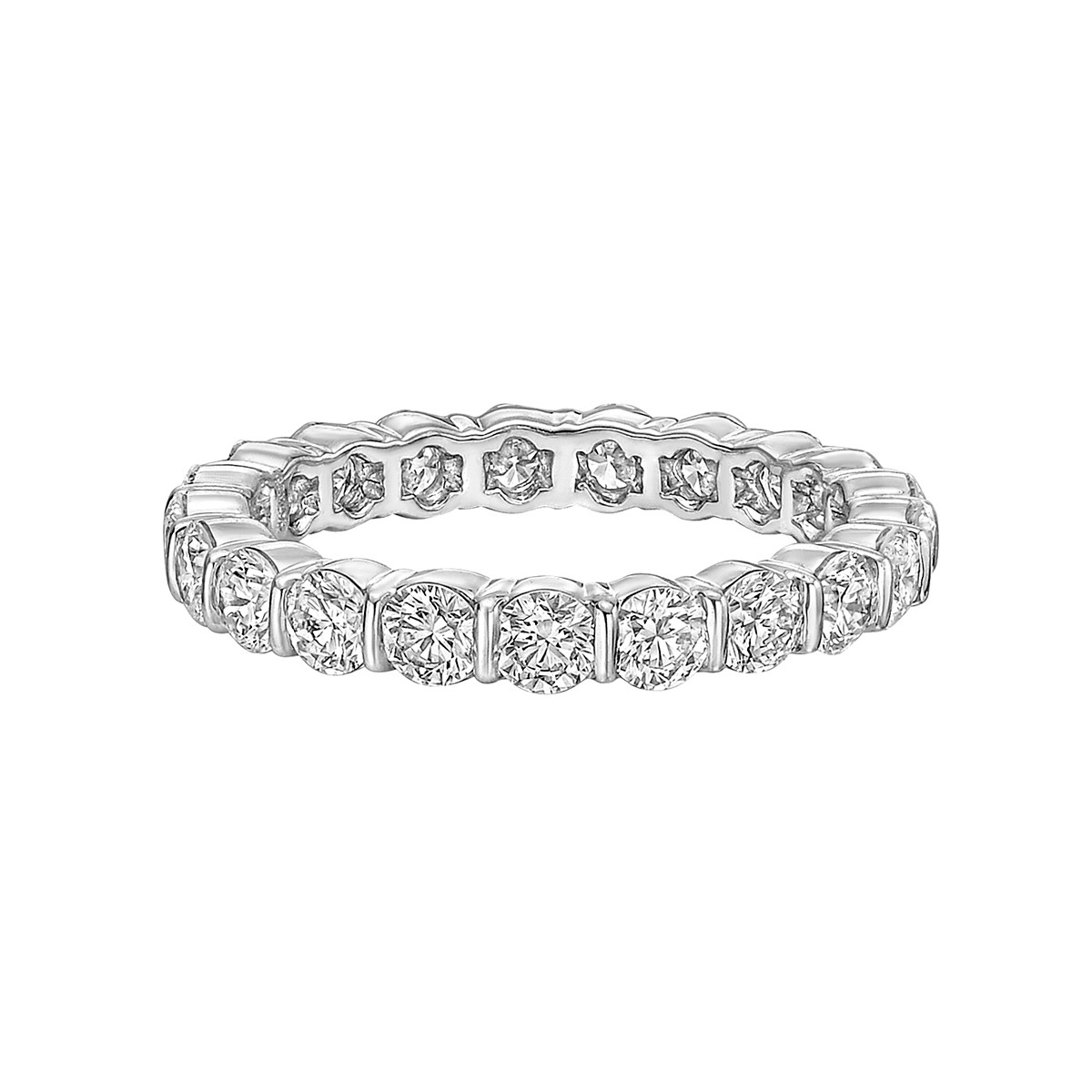 Bar-Set Diamond Eternity Band (2.10ct tw)