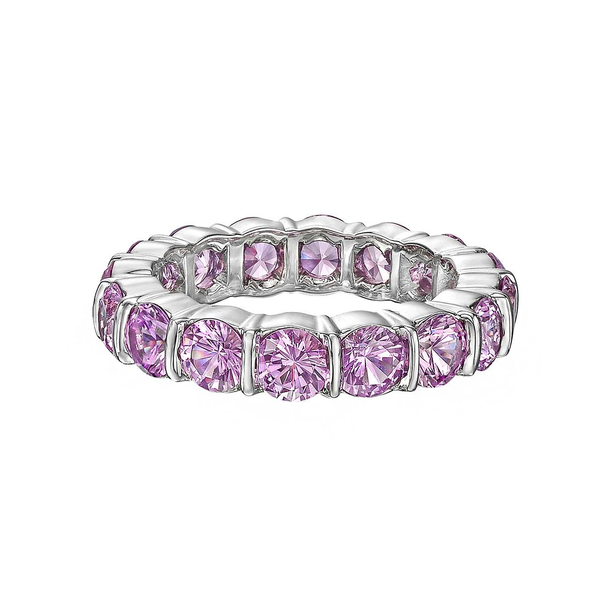 Bar-Set Pink Sapphire Eternity Band (4.70ct tw)
