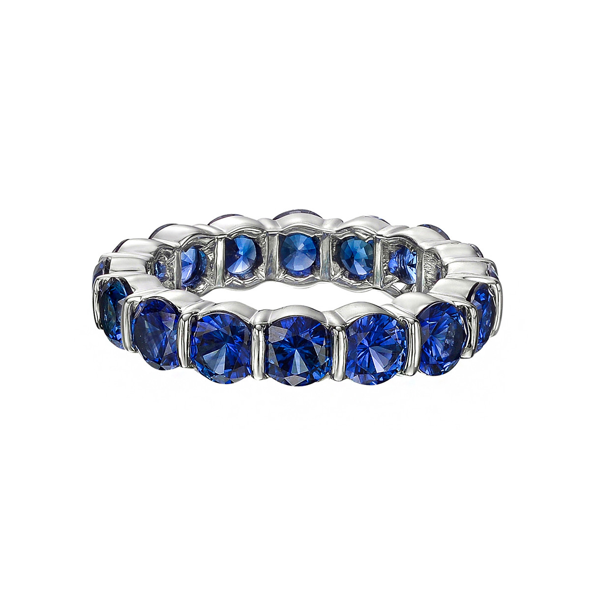 Bar-Set Sapphire Eternity Band (4.70ct tw)