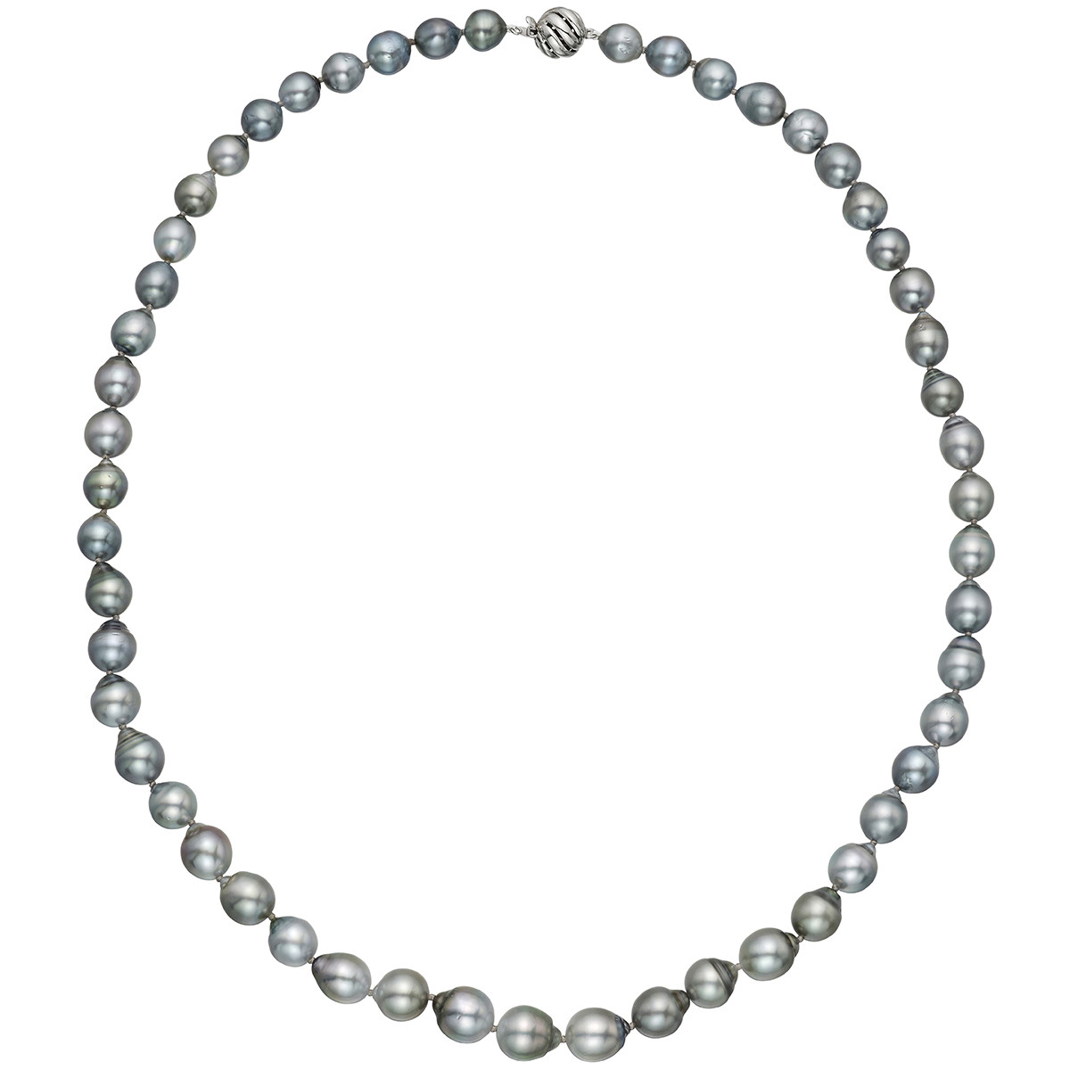 Baroque Gray Pearl Necklace