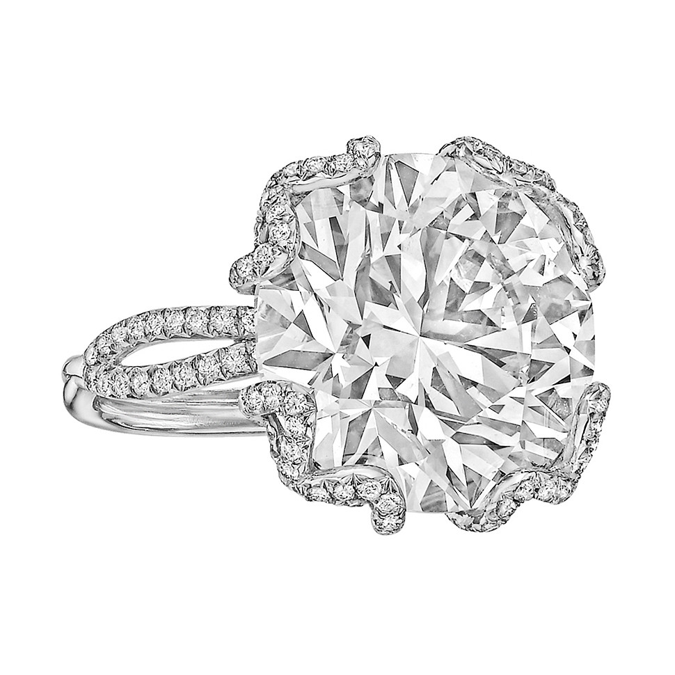 "14.92ct Round Brilliant Diamond ""Love Knot"" Ring"
