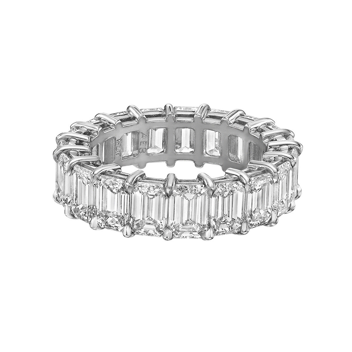 "Emerald-Cut Diamond ""Ara"" Eternity Band (6.49 ct tw)"