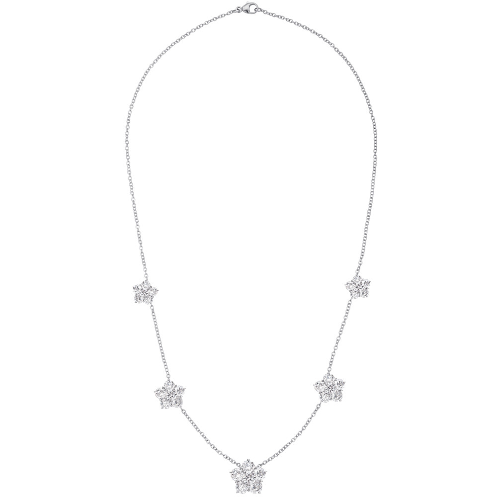 "Diamond ""Astra"" Graduated 5-Station Necklace"