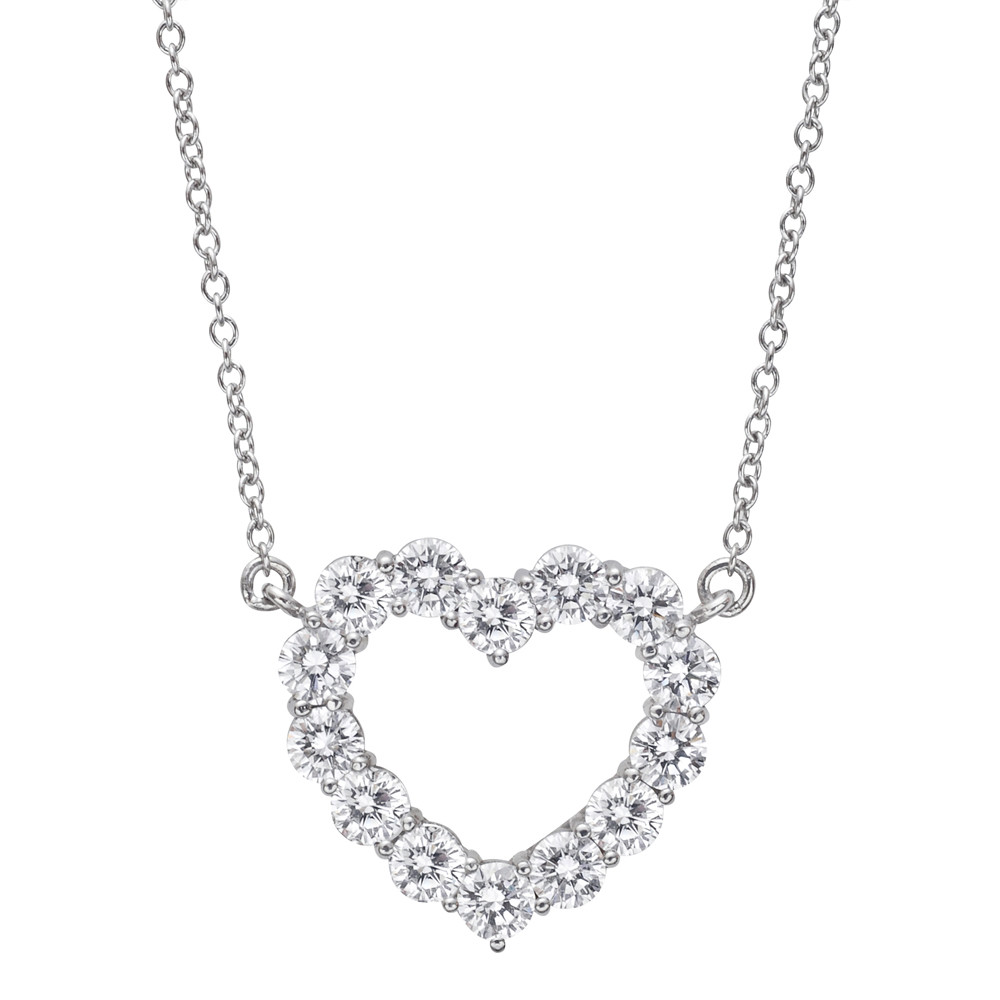 Medium Diamond Heart Pendant