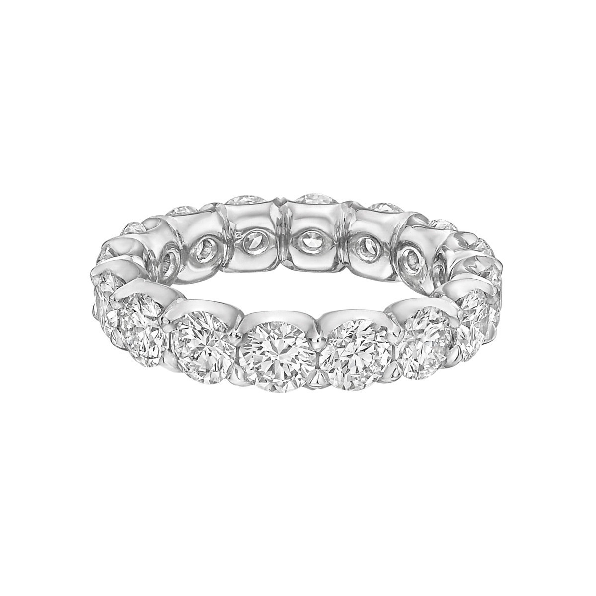 "Round Brilliant Diamond ""Capella"" Eternity Band (4.06tcw)"
