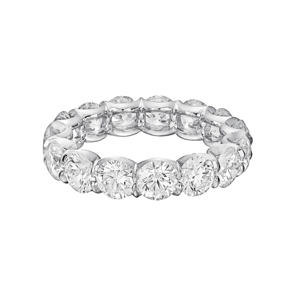platinum set eternity bands princess diamond in carat zoom band channel