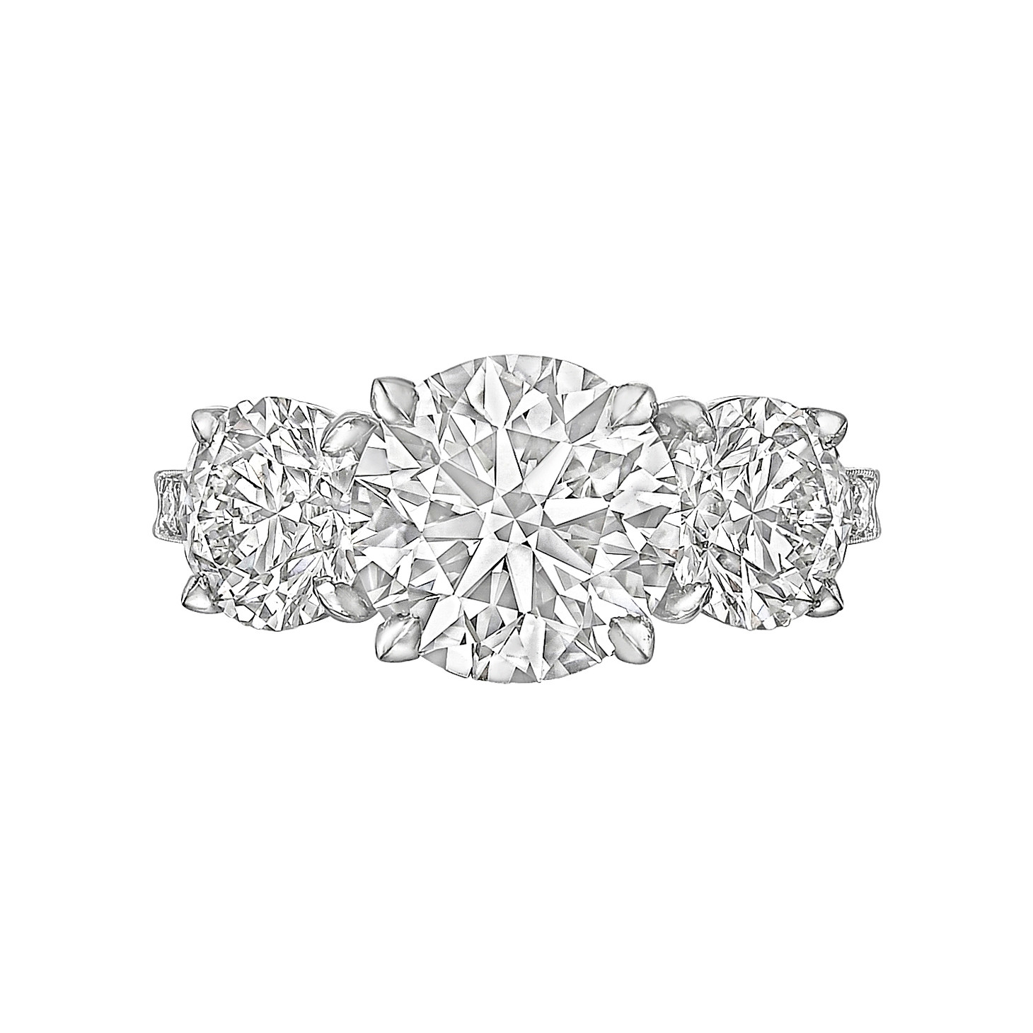 2.51ct Round Brilliant Diamond Three-Stone Ring
