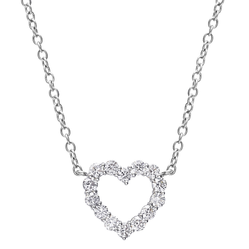 Small Diamond Heart Pendant